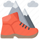activities, boots, hiking, hobbies, pastime icon