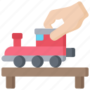 activities, hobbies, model, pastime, trains icon