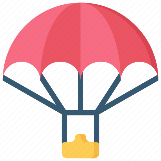 activities, hobbies, parachuting, pastime, skydiving icon