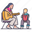 hobbies, learning, leisure, lession, music, private, teacher icon