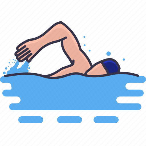 activity, classes, hobbies, learning, leisure, swimming, water icon