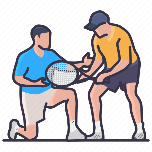 activity, hobbies, learning, leisure, lession, private, tennis icon