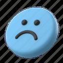 emotion, emoticon, emoji, sad, smiley, unhappy