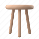 furniture, real, estate, stool, chair, furnishing, interior, decor