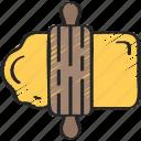 activities, baking, dough, hobbies, pastime icon