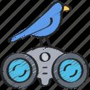 birds, activities, watching, bird, hobbies, pastime icon