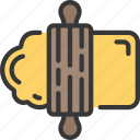 activities, baking, dough, hobbies, pastime icon