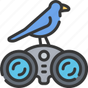 activities, bird, birds, hobbies, pastime, watching icon