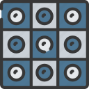 activities, checkers, hobbies, pastime, strategy icon