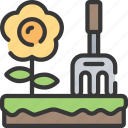 activities, gardening, hobbies, pastime, sun icon