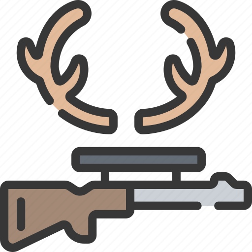 activities, hobbies, hunting, pastime, rifle icon