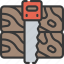 activities, hobbies, pastime, saw, wood, working icon