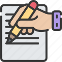 activities, hobbies, letter, pastime, writing icon