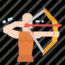 archer, archery, arrow, bow, weapon icon