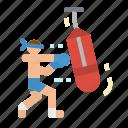 box, boxer, boxing, sports icon