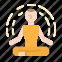 exercise, meditation, relaxing, yoga icon