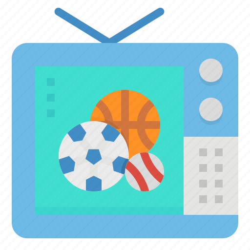 baseball, show, sport, tv, watching icon