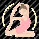 exercise, meditation, relaxing, sports, yoga icon