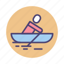 boat, boating, rower, rowing icon