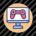 computer, computer gaming, games, gaming, pc gaming, video game, video gaming icon