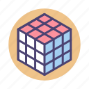 cube, cubing icon