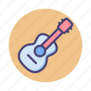 acoustic guitar, electric guitar, guitar icon