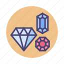 collector, diamond, gem, gemstones, jewellery, jewelry icon
