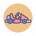buggy, gokart, kart, kart racing, race, racing icon