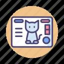 cat, virtual pet icon