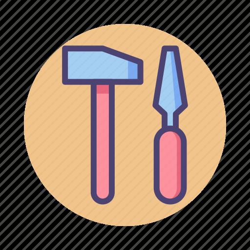 hammer, sculpting icon