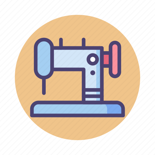 sewing, sewing machine, tailor icon