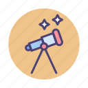 stargaze, stargazing, telescope icon