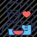 baker, cook, cooking, dough icon