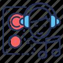 boy, headset, listening, music