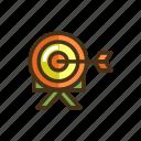 archer, archery, arrow, target icon