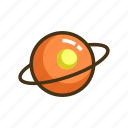 astronomy, galaxy, planet, saturn, universe icon