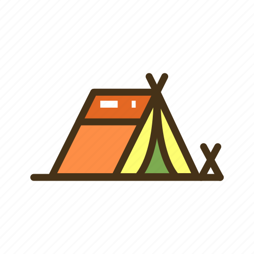 camp, campground, camping, tent icon