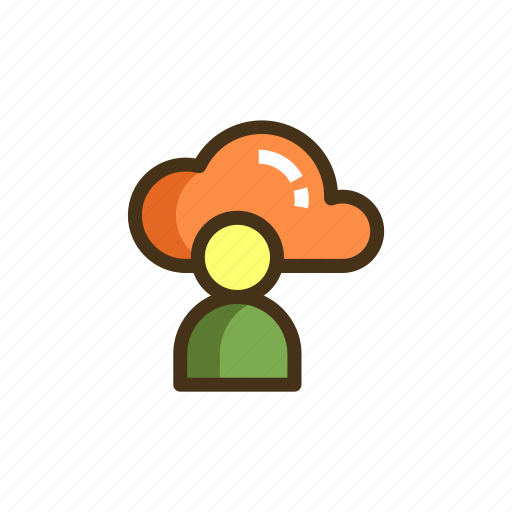 Cloud user, cloud watching icon - Download on Iconfinder