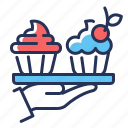 cafe, confectionary, cupcakes, dessert icon