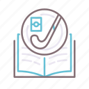book, field, hockey, lessons icon