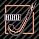 ball, field, hockey, stick icon