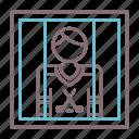 box, hockey, penalty icon