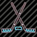 hockey, sticks, street, urban icon