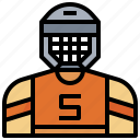 avatar, competition, hockey, person, player, sports, user icon