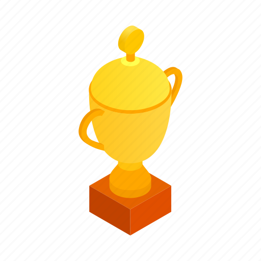 champion, cup, gold, isometric, prize, success, win icon