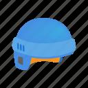 equipment, helmet, hockey, ice, isometric, protection, sport icon