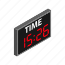 clock, hockey, isometric, match, scoreboard, soccer, timer icon