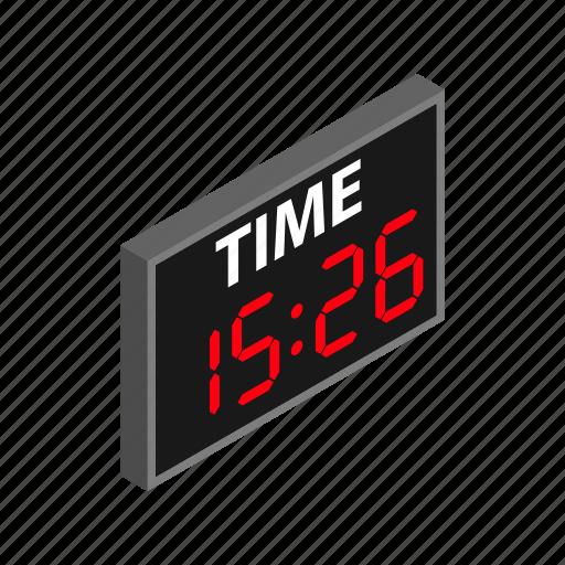 clock, hockey, isometric, match, scoreboard, soccer, timer icon