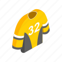 hockey, isometric, shirt, sport, team, template, uniform icon
