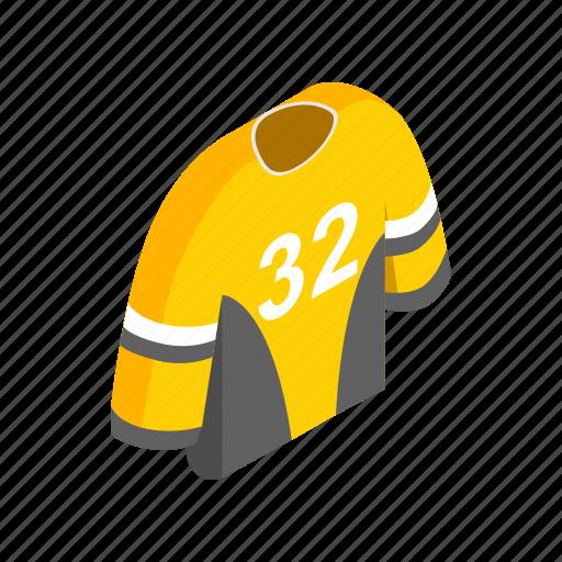 hockey, isometric, shirt, sport, team, template, uniform icon